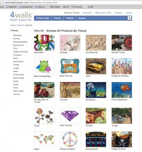 4walls Interior Themes page