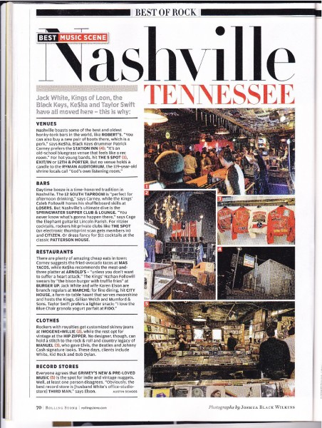 Nashville featured in Rolling Stone Magazine