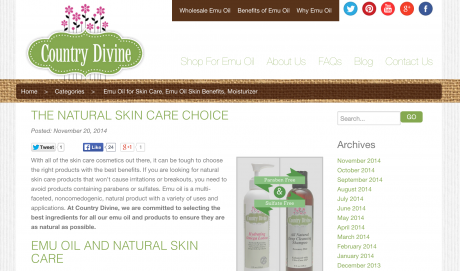 Country Divine Blog