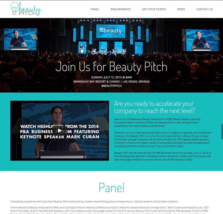 Beauty Pitch website