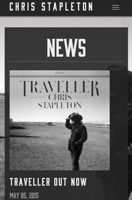 Chris Stapleton responsive interior page