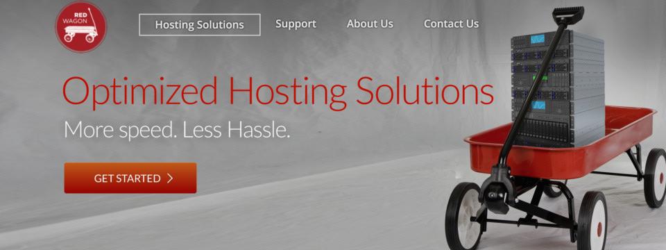 red wagon hosting website