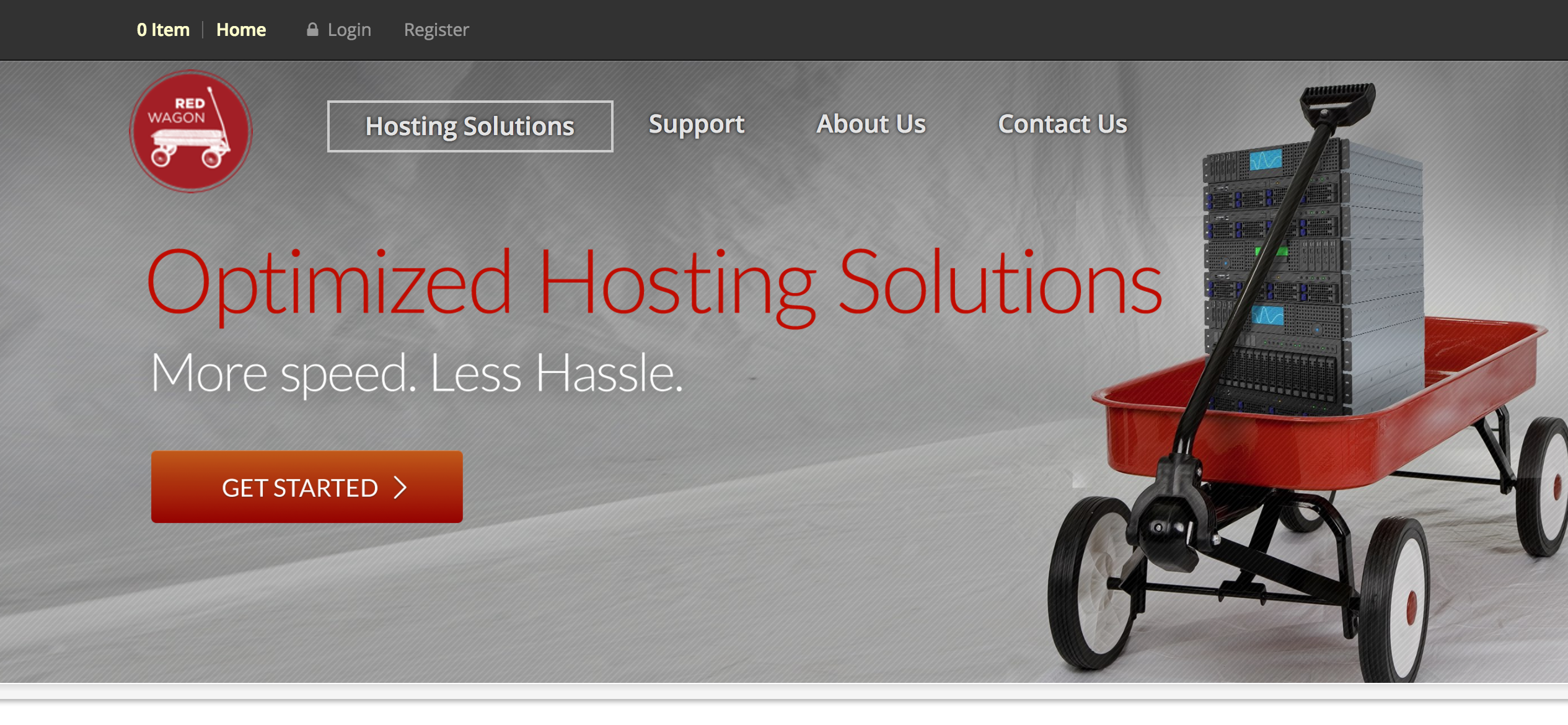 red wagon hosting website