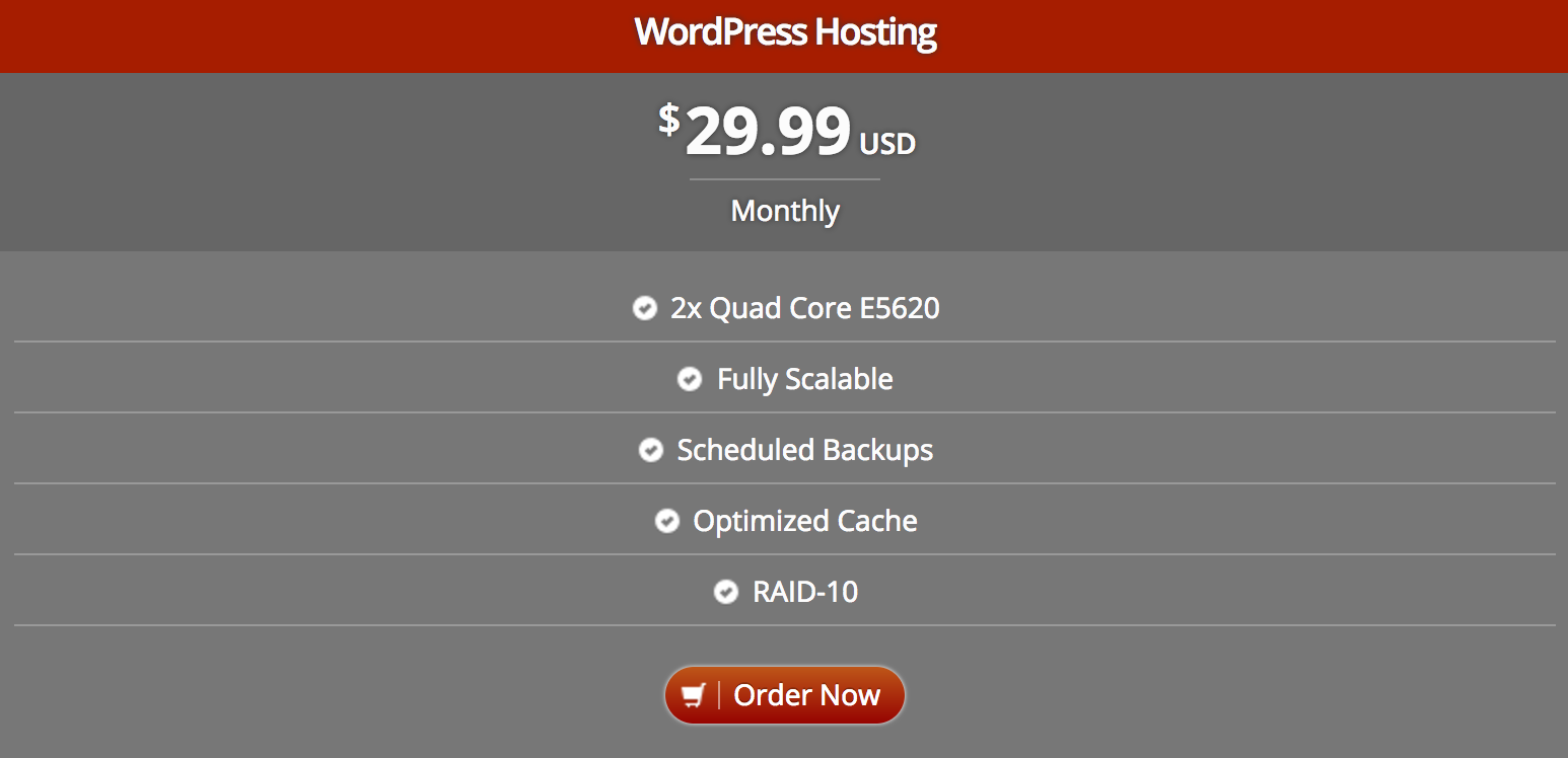 optimized wordpress hosting plan