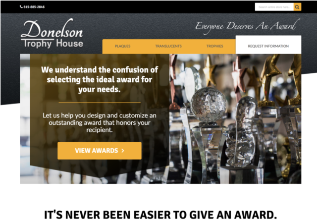 Donelson Trophy House - Magento Website