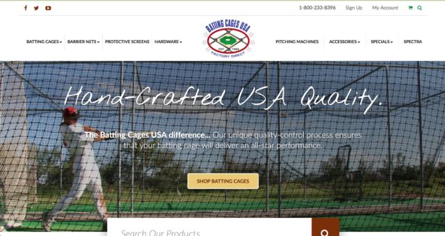 Batting Cages USA - Magento Website