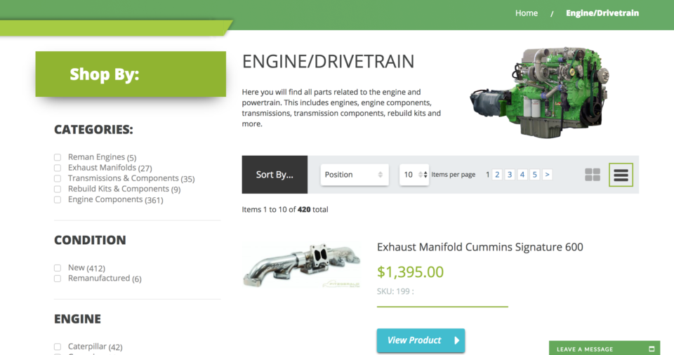 Fitzgerald Truck Parts Magento Website