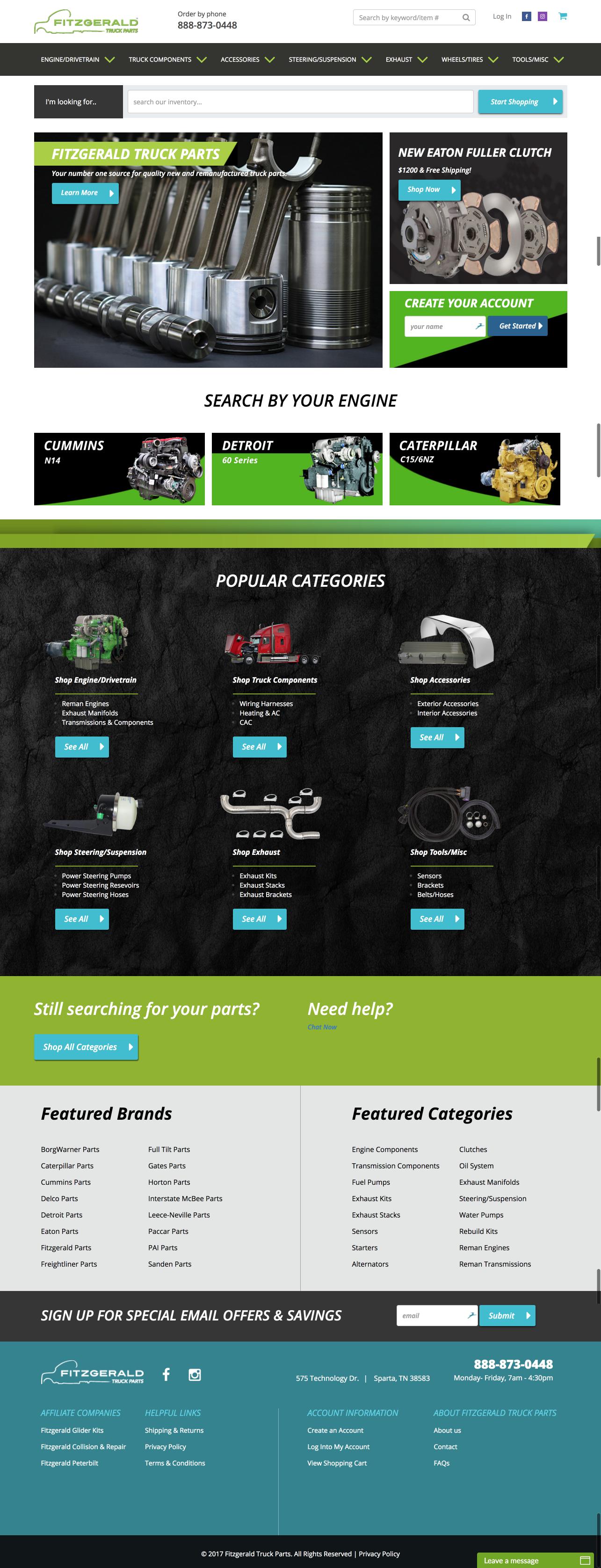 Fitzgerald Truck Parts Website
