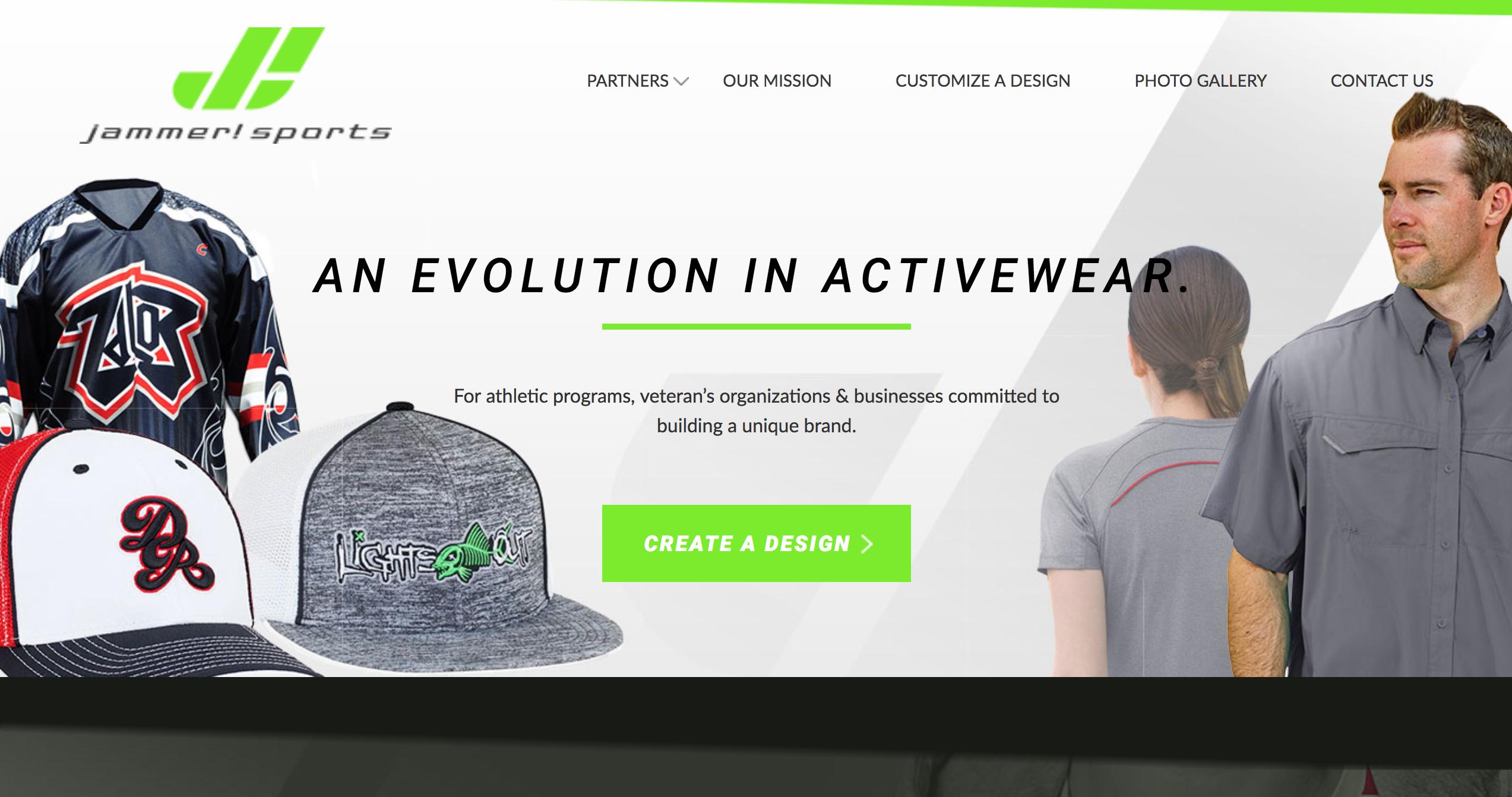JAMMER! Sports - Branding and WordPress Website