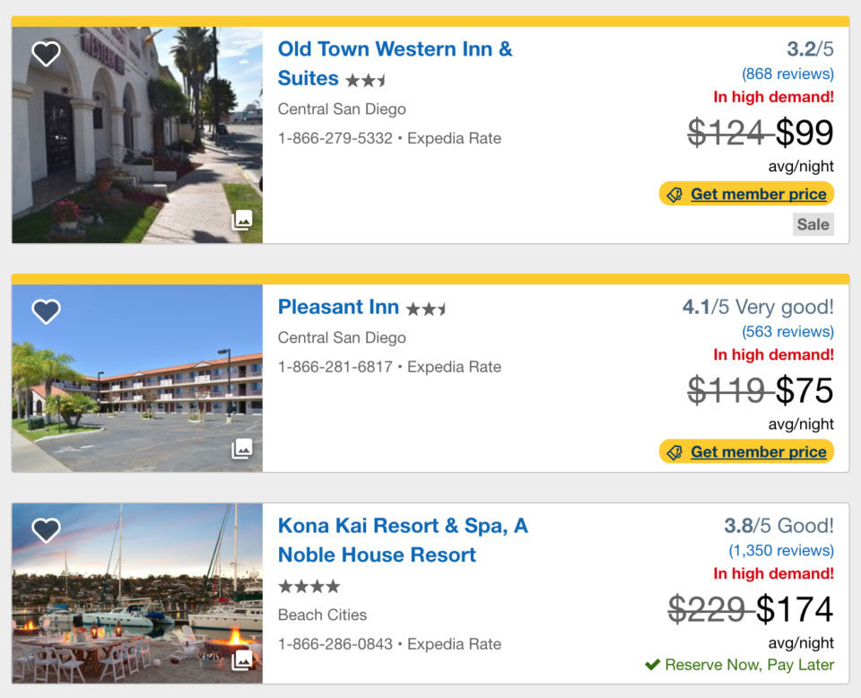 expedia scarcity example