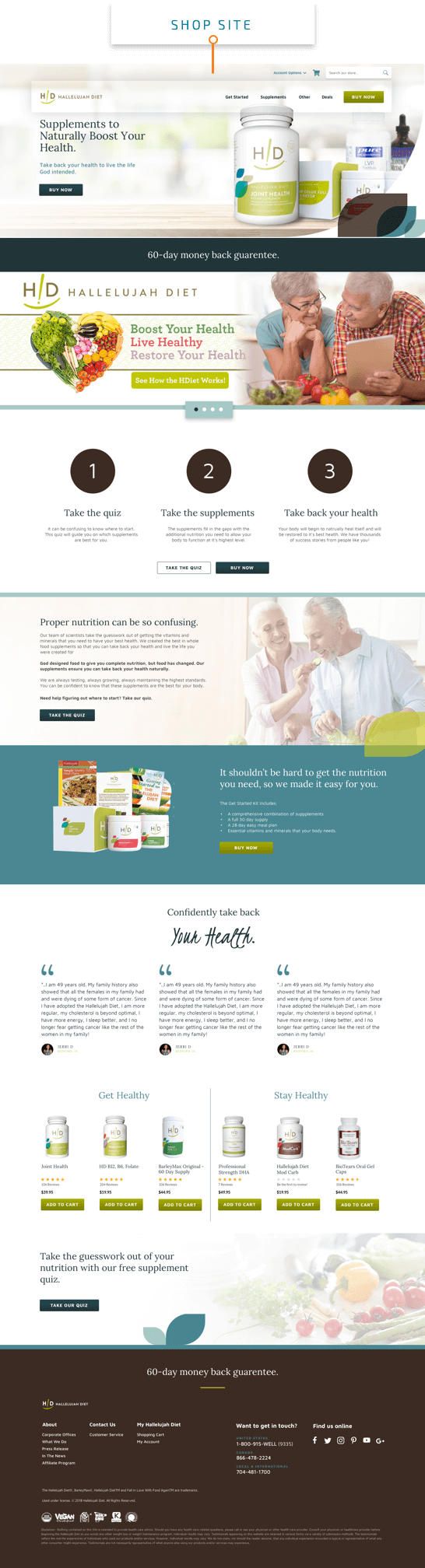hallelujah diet shop website preview