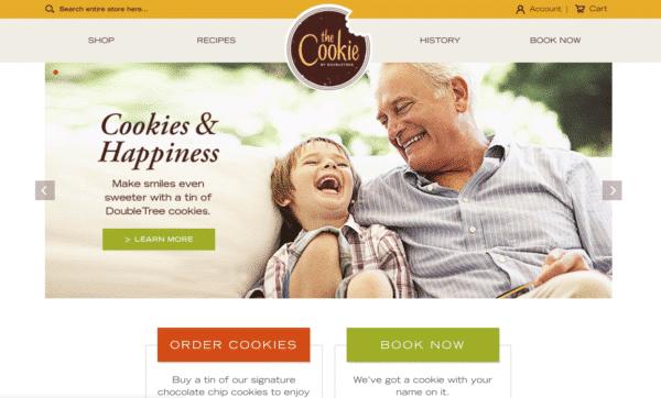 DoubleTree Cookie website